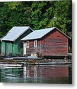 Shacks In Alaska Metal Print