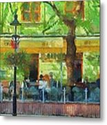 Shaded Cafe Metal Print