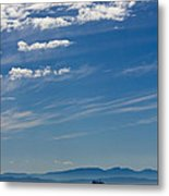 Blue Skies And Bluer Seas Metal Print