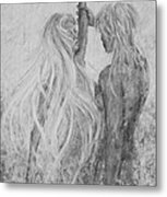 Shades Of Gray - Adam And Eve Metal Print