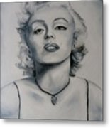 Shades Of Gray Marilyn Monroe Metal Print