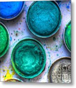 Shades Of Green Watercolor Metal Print