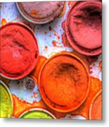 Shades Of Orange Watercolor Metal Print by Heidi Smith