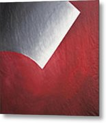 Shading  Of Life On Red  Metal Print