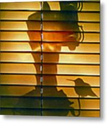 Shadow Bird Metal Print
