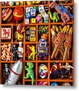 Shadow Box Full Of Toys Metal Print