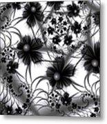 Shadow Flowers Metal Print