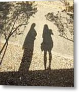 Shadow Friends Metal Print