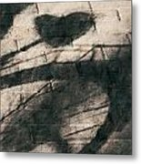 Shadow Heart Chalk 1 Hp Metal Print