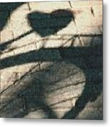 Shadow Heart Pastel Chalk 2 Metal Print