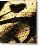 Shadow Heart Tinted Copper Metal Print