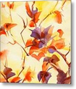 Shadow Leaves Metal Print