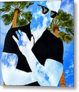 Shadow Man Palm Springs Metal Print