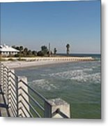 Shadow On The Pier Metal Print