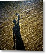 Shadow On The Water Metal Print
