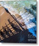 Shadows Day At The Beach Metal Print