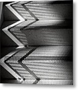 Shadow Play - Black And White Metal Print
