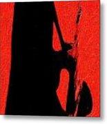 Shadow Sax Metal Print