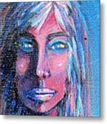Shadow Woman Metal Print