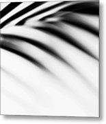 Shadow Zen. Palm Leaf. Monochrome Metal Print by Jenny Rainbow