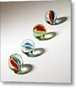 Shadowed Marbles Metal Print