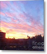 Shadows And Color In The Pacific Northwest Metal Print