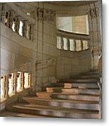 Shadows On Chateau Chambord Stairs Metal Print