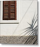 Shadows On Old House. Metal Print