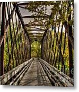Shadows On The Walking Bridge Metal Print