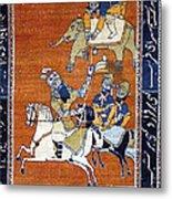 Shahnameh Ferdowsi Rostam And Sohrab Photos Of Persian Antique Rugs Kilims Carpets  Metal Print