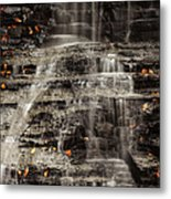 Shale Waterfalls Cascade Metal Print