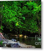 Shall We Gather At The River Metal Print