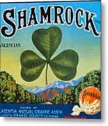Shamrock Crate Label Metal Print