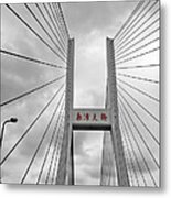 Shanghai Bridge Metal Print