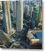 Shanghai From Above Metal Print