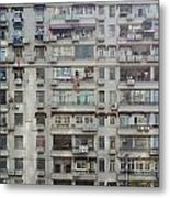 Shanghai Homes Metal Print