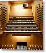Shanghai Organ Console Metal Print