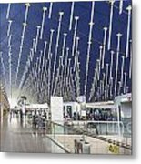 Shanghai Pudong Airport In China Metal Print
