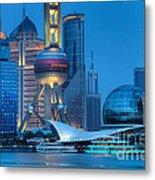 Shanghai Pudong Metal Print by Fototrav Print
