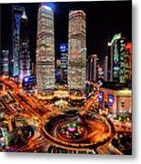 Shanghais Financial City Center Metal Print