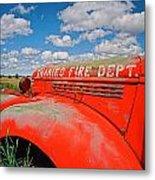 Shaniko Fire Truck Metal Print