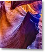 Shapes In The Canyon Metal Print