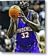 Shaquille O'neal Metal Print by Florian Rodarte