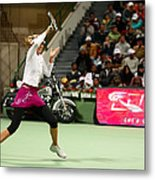 Sharapova At Qatar Open Metal Print