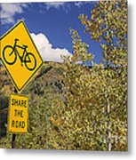 Share The Road Metal Print