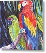 We Are Sharing A Perch  Metal Print