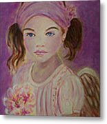 Sharissa Little Angel Of New Beginnings Metal Print
