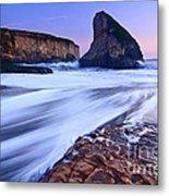 Shark Fin Tide - Santa Cruz California Metal Print by Jamie Pham