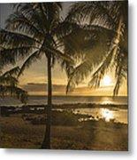 Sharks Cove Sunset 2 - Oahu Hawaii Metal Print