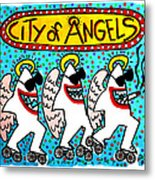 Sharks In The City - City Of Angels Metal Print